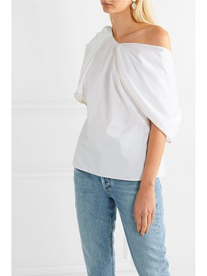 Peter Pilotto asymmetric cotton-poplin blouse
