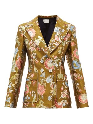 Peter Pilotto double breasted floral brocade blazer