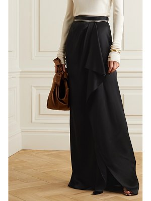 Peter Pilotto draped embroidered satin maxi skirt