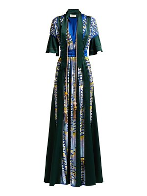 Peter Pilotto embellished satin evening gown