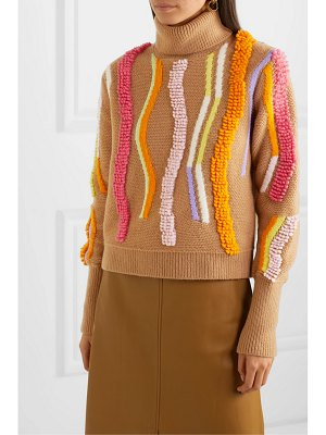 Peter Pilotto embroidered wool-blend jacquard turtleneck sweater
