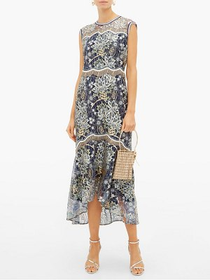 Peter Pilotto floral embroidered chantilly lace dress