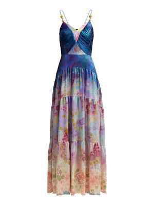 Peter Pilotto floral print silk blend gown