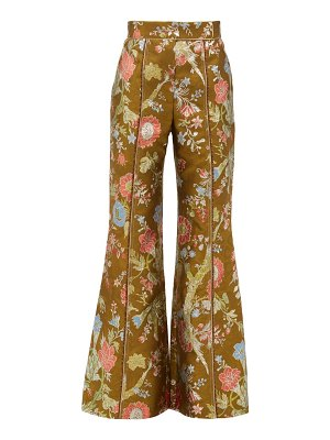 Peter Pilotto high-rise floral-brocade flared trousers