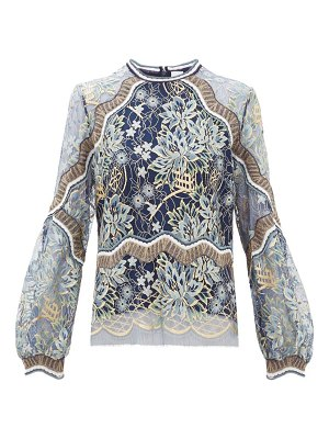 Peter Pilotto long sleeved floral lace top