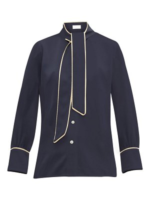 Peter Pilotto pussy bow satin blouse