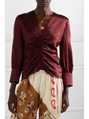 Peter Pilotto ruched satin blouse