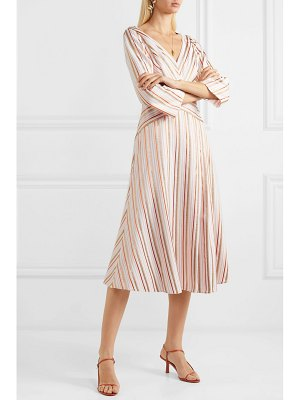 Peter Pilotto wrap-effect striped metallic crepe dress