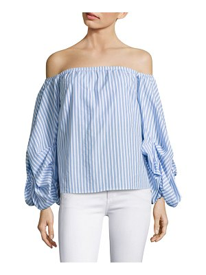 Petersyn Off-The-Shoulder Stripe Blouse