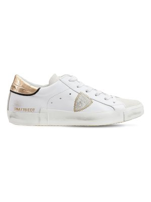 PHILIPPE MODEL Leather & suede low sneakers