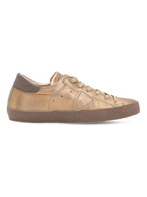 PHILIPPE MODEL Paris metal glittered leather sneakers