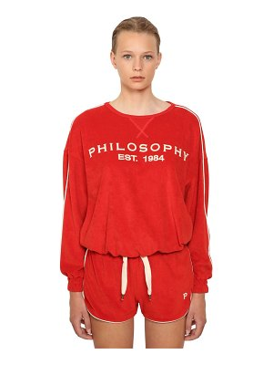 Philosophy di Lorenzo Serafini Logo embroidered cotton sweater