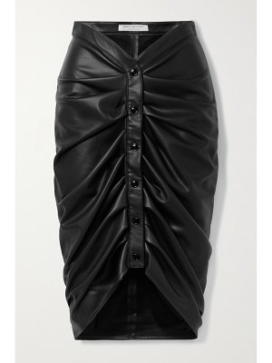Philosophy di Lorenzo Serafini ruched faux leather skirt