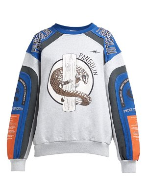 Phipps pangolin organic cotton motocross sweatshirt
