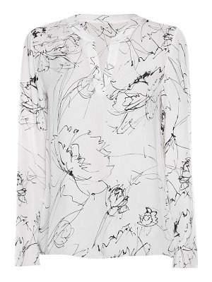 Piazza Sempione abstract printed crepe blouse