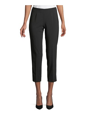 Piazza Sempione Audrey Straight-Leg Stretch-Wool Cropped Pants