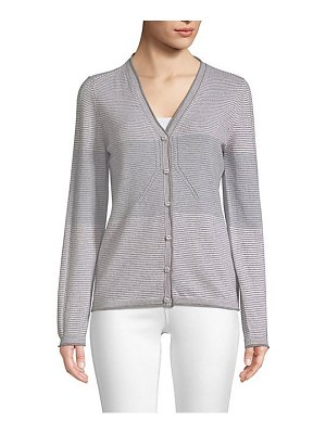 Piazza Sempione block striped cashmere & wool cardigan