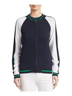 Piazza Sempione bomber knit jacket