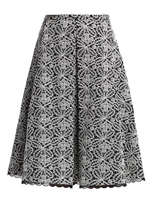Piazza Sempione embroidered pleated skirt