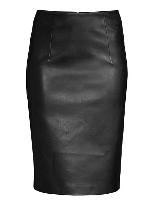 Piazza Sempione faux-leather pencil skirt