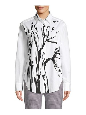 Piazza Sempione flora button-down shirt
