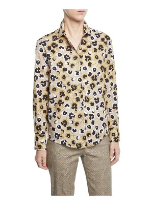 Piazza Sempione Floral Button Front Shirt
