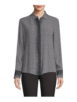 Piazza Sempione gingham degrade button-down shirt