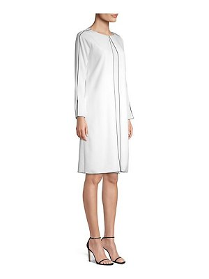 Piazza Sempione long-sleeve cady shift dress
