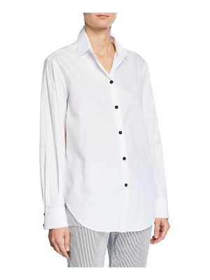 Piazza Sempione Long-Sleeve Cotton Button-Front Tunic