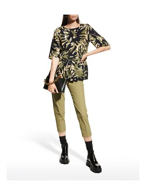 Piazza Sempione Macro-Camouflage Pleated Cady Top