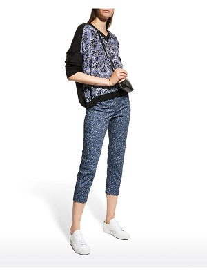 Piazza Sempione Mixed-Media Abstract-Printed Sweater