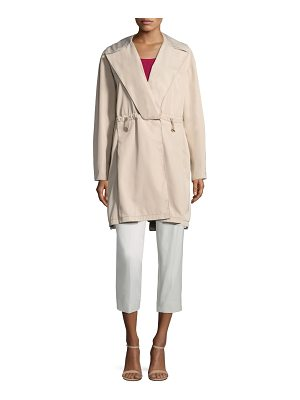 Piazza Sempione notched drawstring jacket