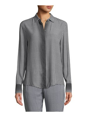 Piazza Sempione Ombre Checked Long-Sleeve Button-Front Shirt