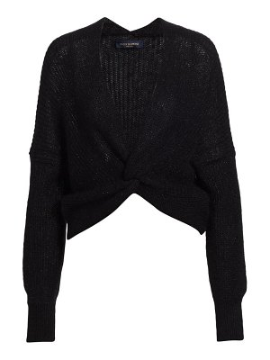 Piazza Sempione open-weave knot-front sweater
