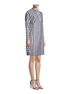 Piazza Sempione striped cotton tunic dress
