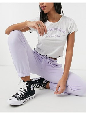 Pieces coordinating sweatpants in lilac-purple