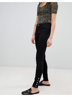 Pieces five betty mid rise skinny jeans with ankle studs