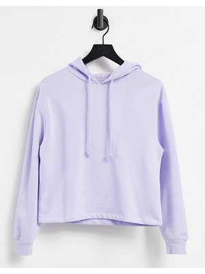 Pieces hoodie set in lilac-purple
