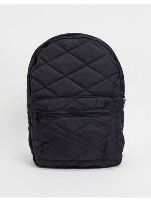 Pieces quilted backpack in black