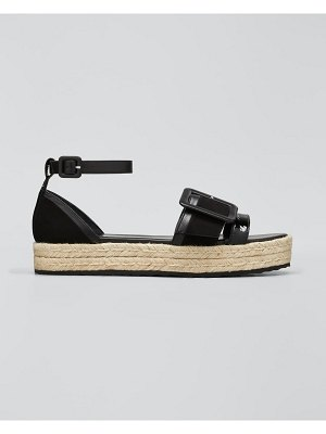 Pierre Hardy Alpha Mixed Leather Espadrille Sandals