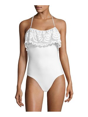 PilyQ one-piece lace flutter swimsuit