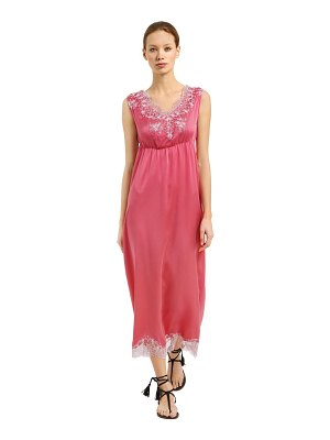 PINK MEMORIES Silk crepe de chine dress