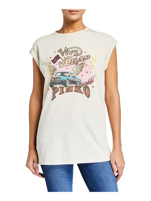 PINKO Cannolo Graphic T-Shirt
