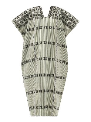 PIPPA HOLT no.268 embroidered striped cotton kaftan