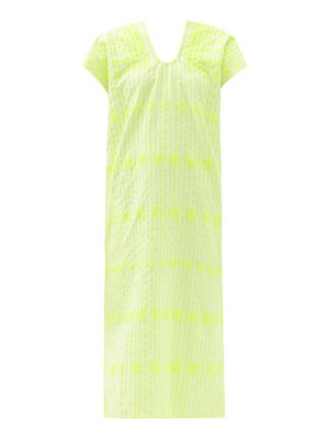 PIPPA HOLT no.269 embroidered striped cotton kaftan