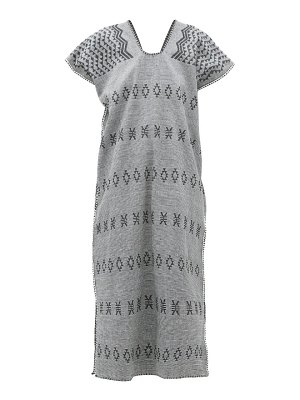 PIPPA HOLT no.158 striped embroidered cotton kaftan