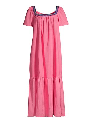 Pitusa ruffle maxi dress