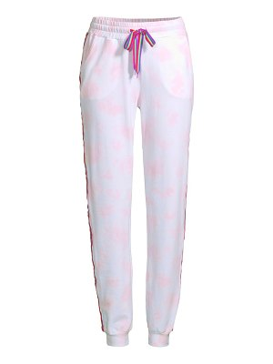 Pitusa tie-dye embroidered track pants
