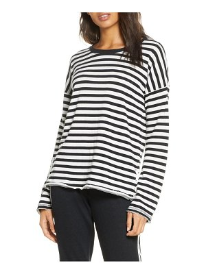 PJ Salvage black out stripe long sleeve sleep shirt