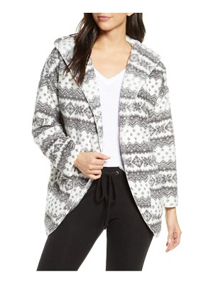 PJ Salvage hooded fleece pile cardigan